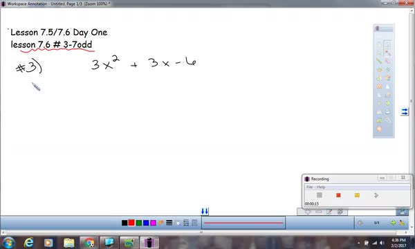 Factoring trinomials using the Split Group Method