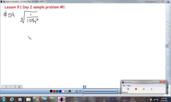 Lesson 9.1 Day 2 homework problem #54