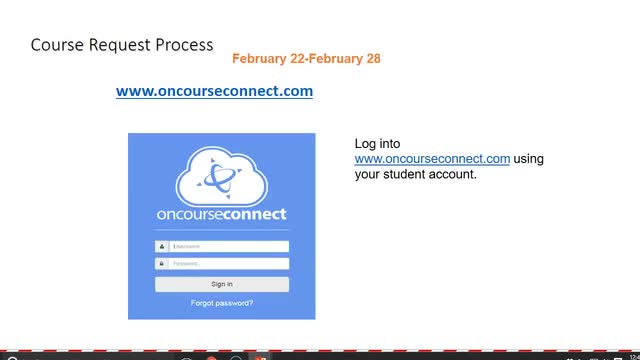 How to select courses in OnCourse