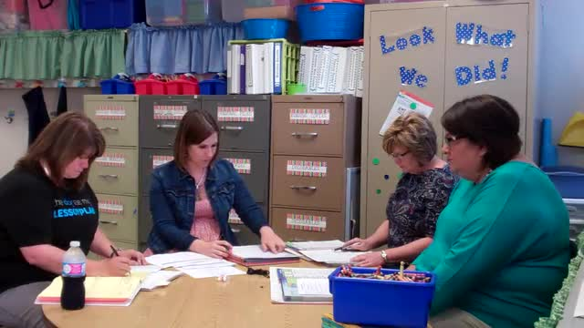 A video of teachers collaborating during a professional development meeting.