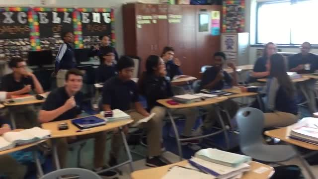 Check out Ms. Drury's Algebra II Honors class singing a song..
