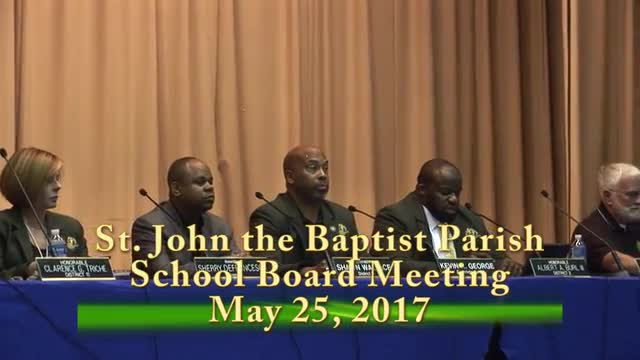 School Board Meeting 2017-05-25