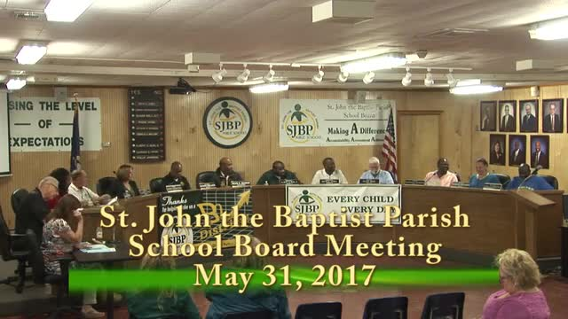 School Board Meeting 2017-05-31