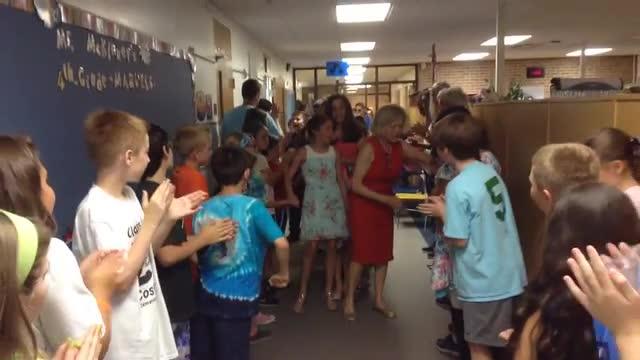 Teacher says goodbye