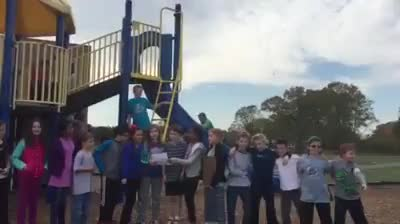 Students sing school song