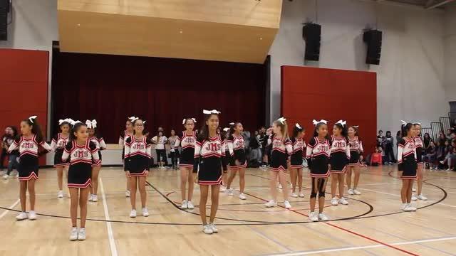 Cheerleaders at the December Pep Rally