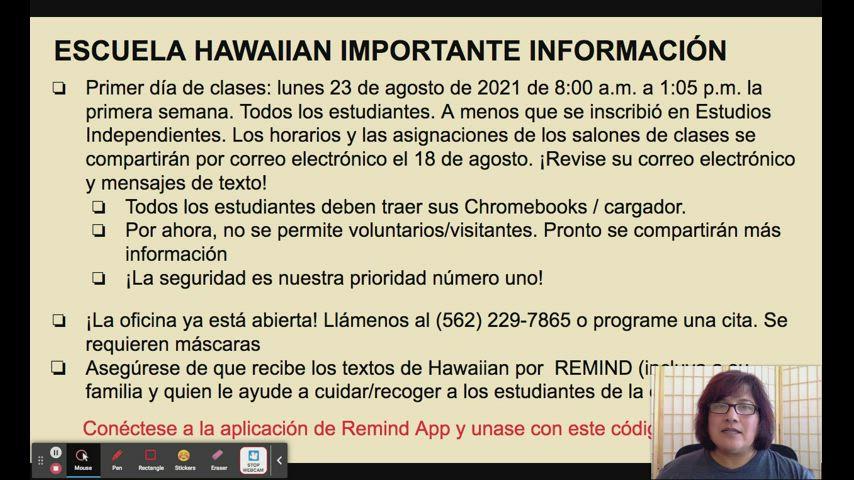 Parent Information Video by Principal Lozano