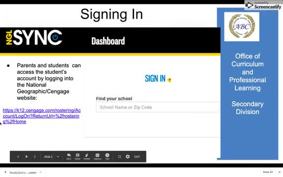 how to log into dashboard video