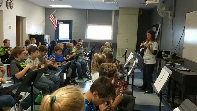 Wagar students playing music
