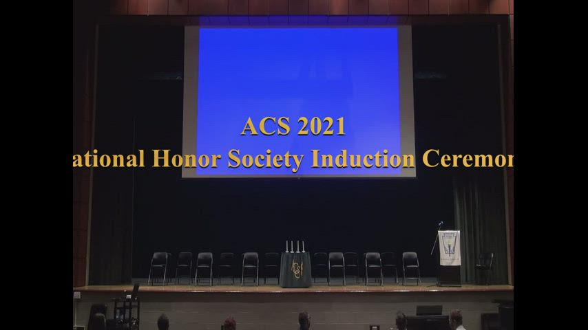ACS National Honor Society Induction Ceremony 2021