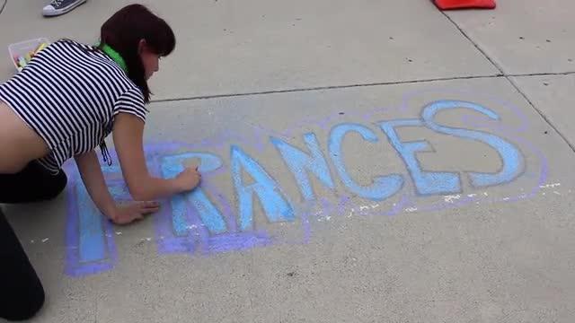 time lapse chalk art