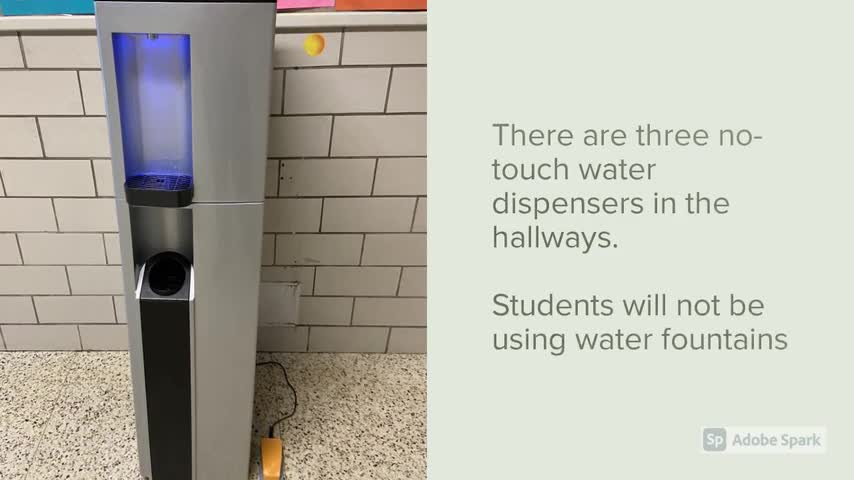 How to use the water dispensers