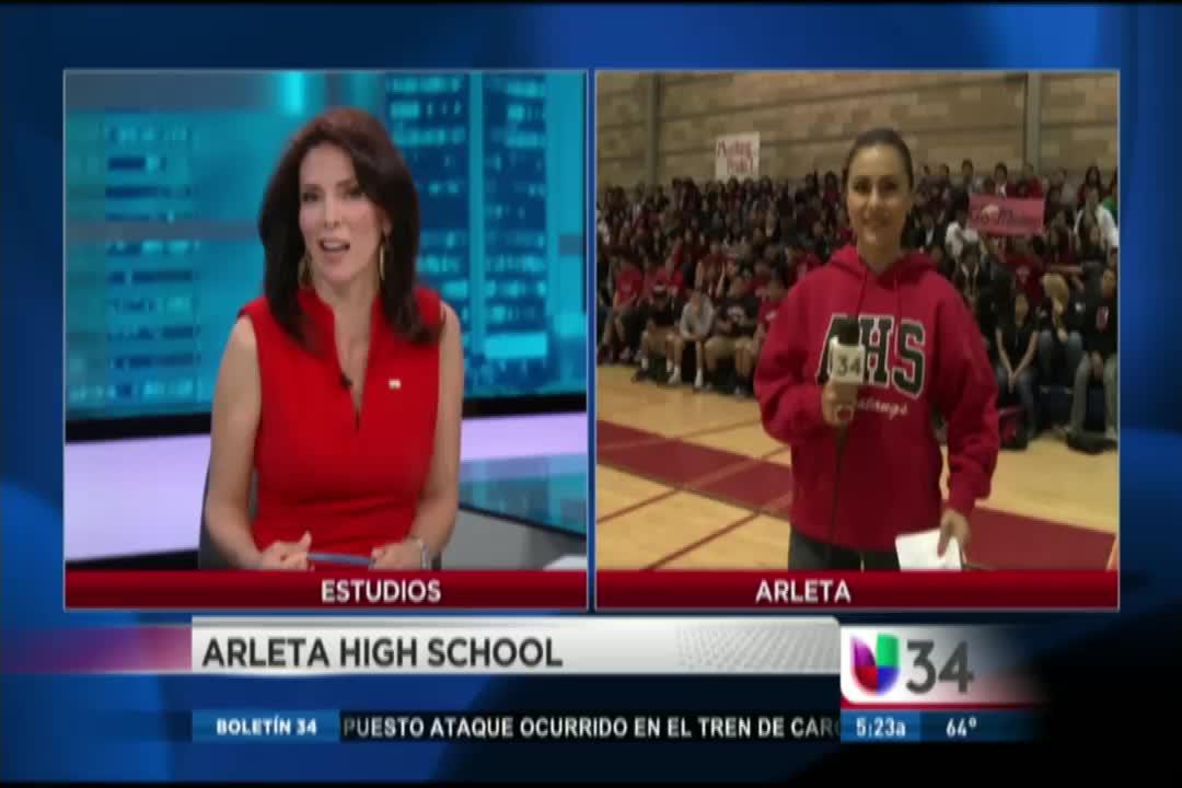 Arleta On Univision 34 Arleta High School