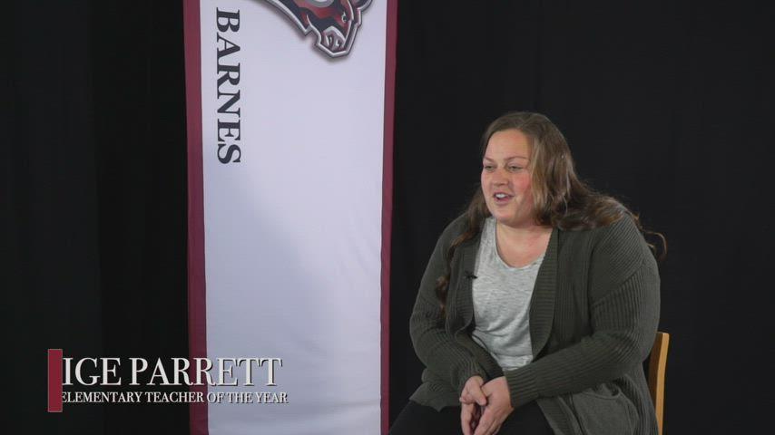 Paige Parrett - 2021 Barnes Teacher of the Year