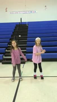 3rd grade dancing with Just Dance and the XBox