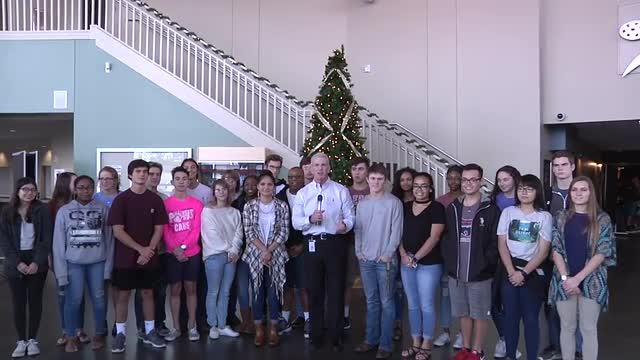 Video of Mr. Murray and BISD students.