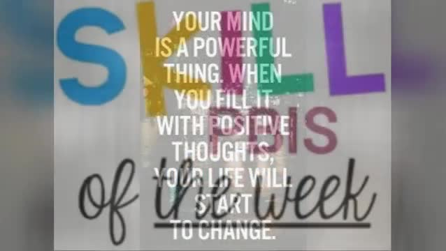 Good morning, everybody! Happy Monday! It's the 27th week of school!  Our growth mindset quote of the week is: