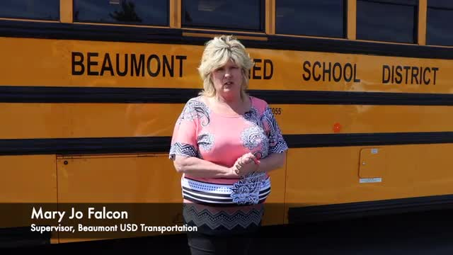 Sandra Reyes-Hallmark, a Driver in the Transportation Department, is retiring after 13 years with the Beaumont Unified School District.