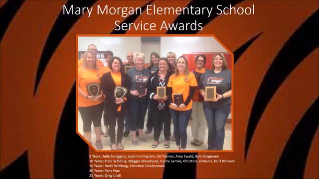Video of service awards and retirees
