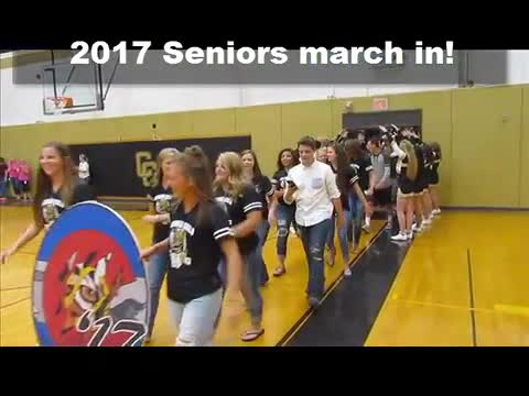 2017 Seniors Marching In
