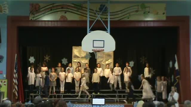 2nd Graders preforming their winter concert
