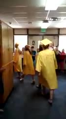 Graduating seniors walk the halls of McKinley as students give them applause!
