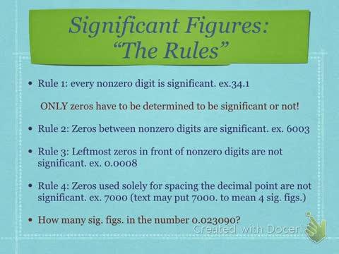 Measurement Notes Significant Figure Rules