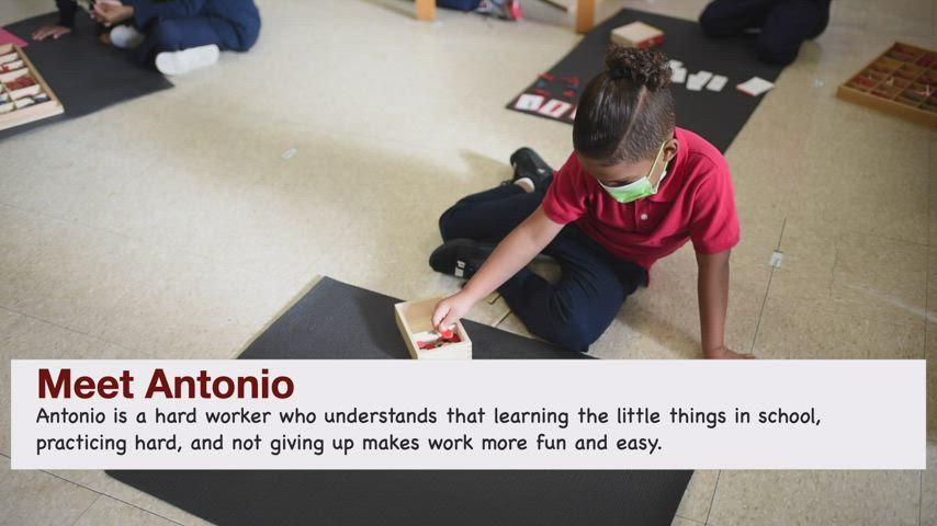 Sacred Heart Kindergarten Spotlight - Antonio
