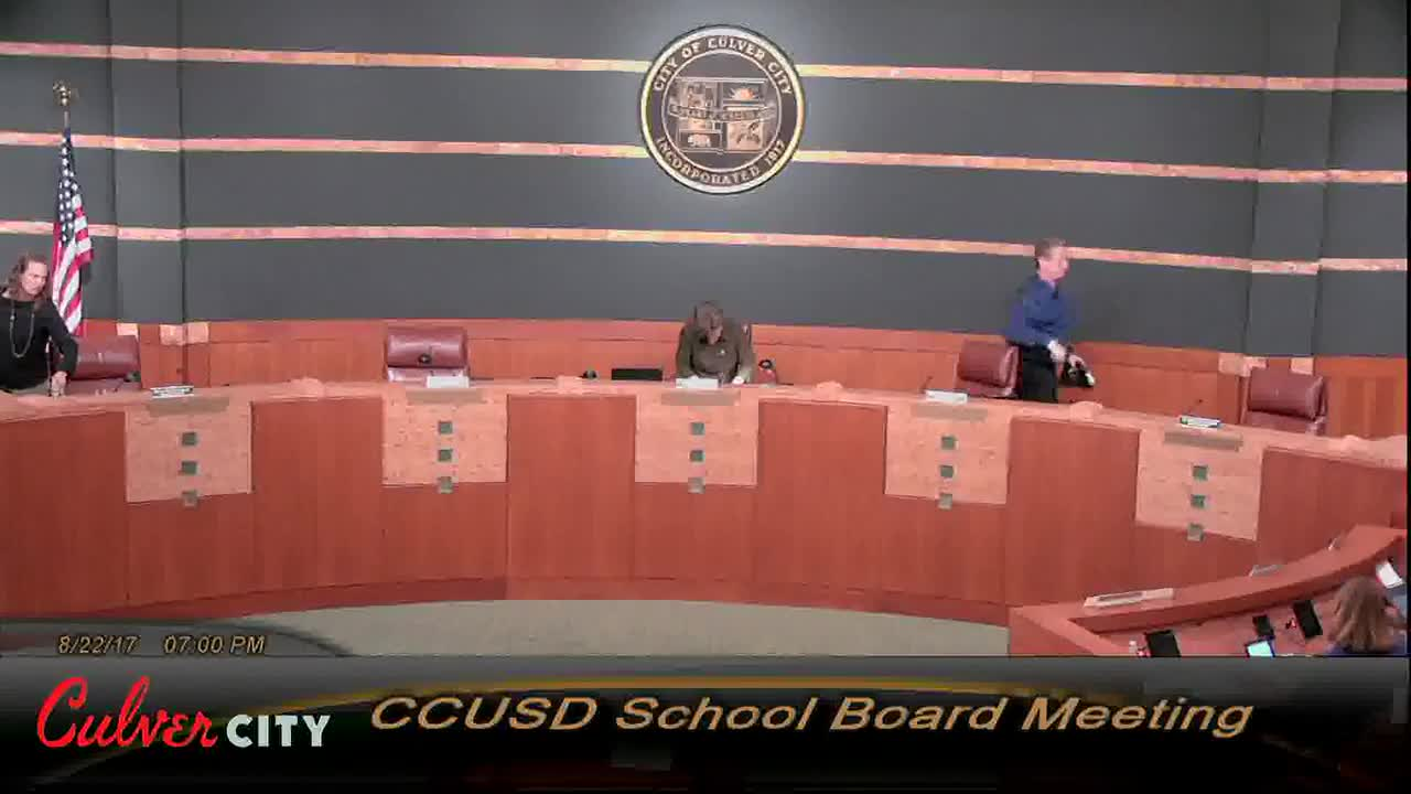 Videos Board Of Education Culver City Unified School District