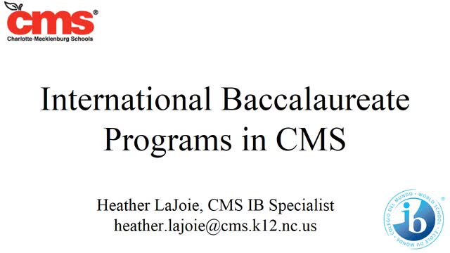 International Baccalaureate Overview Video