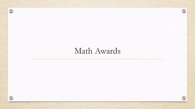 7th Grade Class Awards