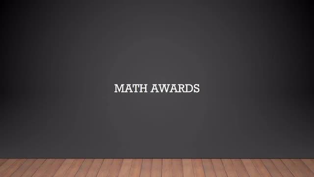 8th Grade Class Awards
