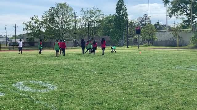 This is a brief video of the Baker Middle School newly-formed soccer team at practice