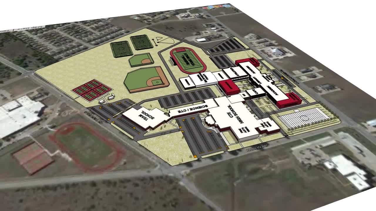 New Cleburne High School Proposed Site Plan Cleburne