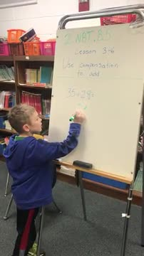 2nd Grade Use Compensation to Add