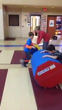 child tumbling