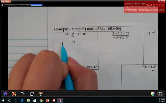 1.4 - 1.6 Part 2: Order of Operations and Evaluating Expressions
