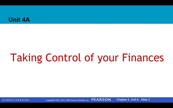 4A Taking Control of Your Finances