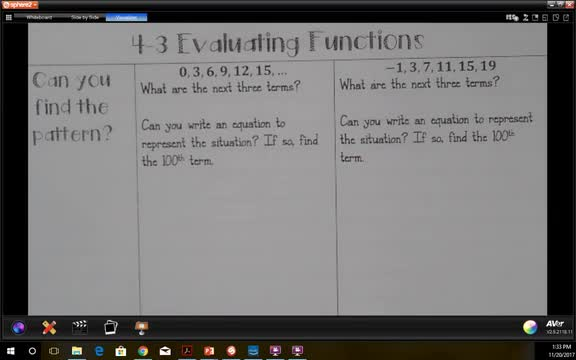 4.3 Evaluating Functions