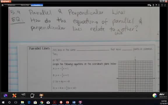 5.9 Parallel and Perpendicular Lines