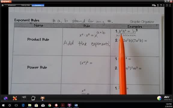 7.1 Through 7.5 Exponent Rules