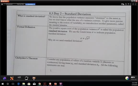 8.3 Part 2 Finding the Standard Deviation