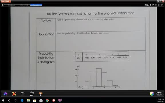 8.8 The Normal Approximation for the Binomial Distribution