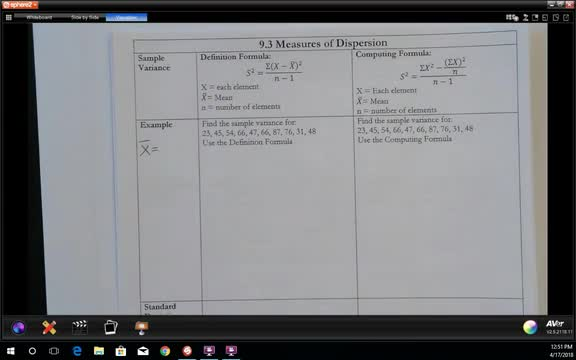 9.3 Measures of Dispersion