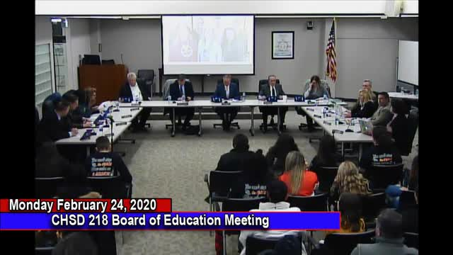 Videos Board Of Education Community High School District 218