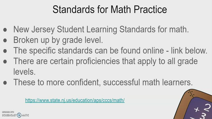 Math Standards and Success