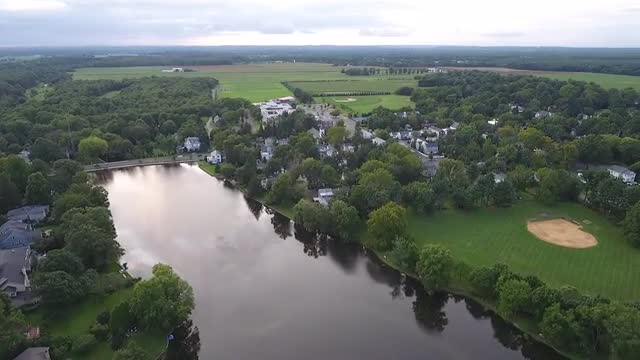 Video with no sound showing aerial view of Cranbury Township