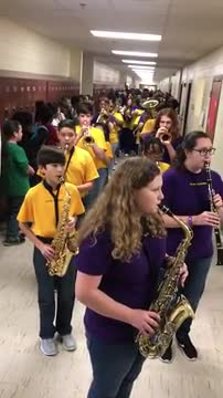 CMS Band leads Varsity Boys in parade to state 2019