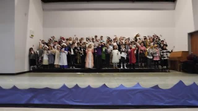 Second Graders Singing Grand Old Flag