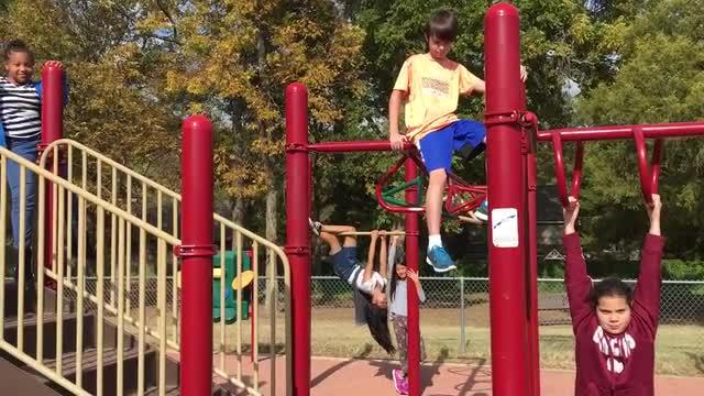 Mannequin Challenge on the Playground
